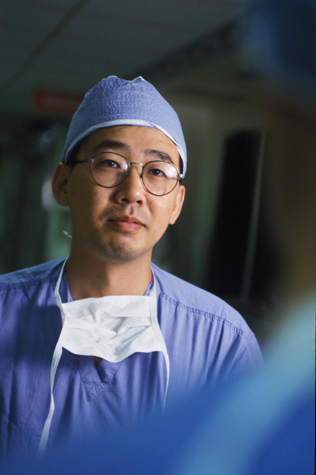 Portrait of health professional wearing glasses
