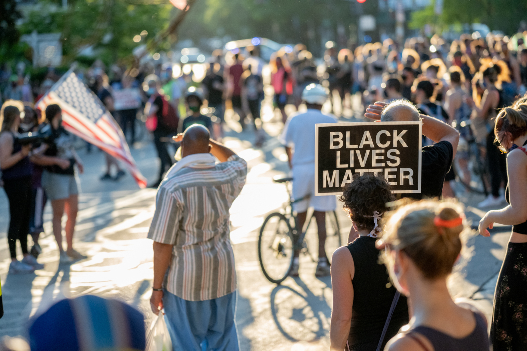 black lives matter street protest